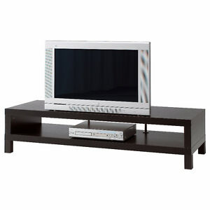 IKEA LACK TV STAND - BLACK/BROWN