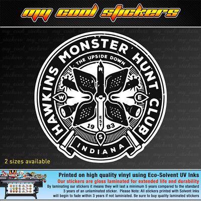 Club Vinyl (Hawkins Monster Hunt Club Vinyl Sticker Decal, 4X4 Ute Car Truck Stranger Things)