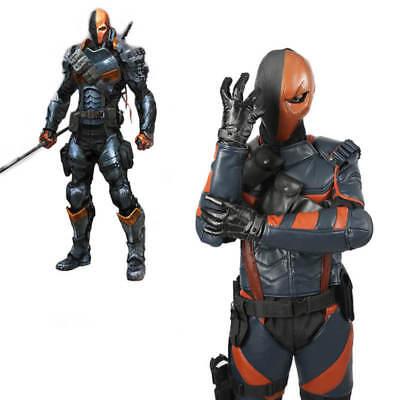 Batman Arkham Knight Deathstroke Armor Cosplay Costume Props Leather Fighter - Deathstroke Costume Halloween