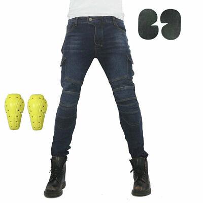 Männer ausgestattet Motorrad Jeans Motorrad Hosen Denim Hose Off Road Mit Pad DE ()