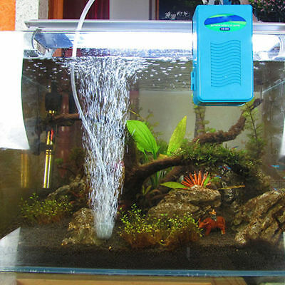 Aquarium Battery Backup Operated Fish Tank Air Pump Aerator Oxygen Tube Portable