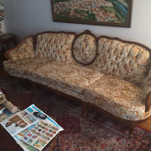 Louis XV Style solid Wood 3 Piece sofa  Set
