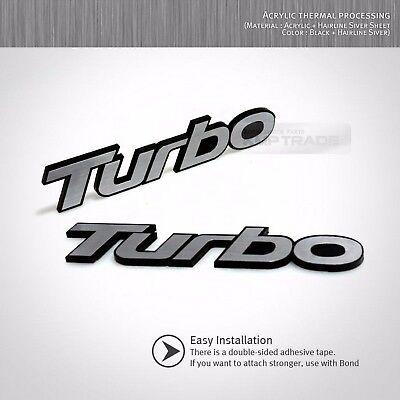 Hairline Emblem Point Badge 2pcs Side Front Trunk for HYUNDAI 2002-08 Tiburon