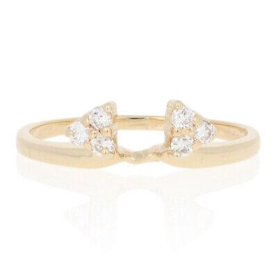 18ctw Round Brilliant Diamond Enhancer Wedding Band 14k Gold Women's Guard Ring