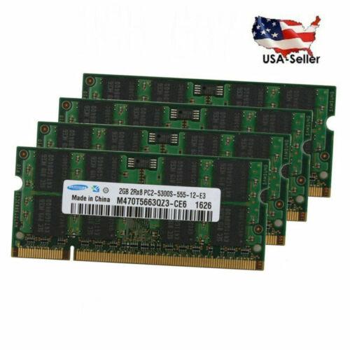 2GB 4GB 8GB For Samsung DDR2 PC2-5300 667MHZ 200pin Laptop M