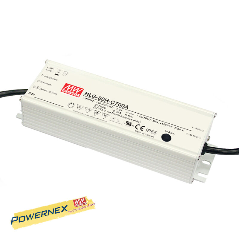 [POWERNEX] MEAN WELL NEW HLG-80H-42A 42V 1.95A 80W Power Supply LED Driver