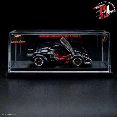 2020 HOT WHEELS RLC EXCLUSIVE BLACK 1982 LAMBORGHINI COUNTACH LP500 S IN HAND