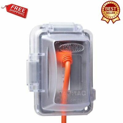 Electrical Box Cover Clear Plastic Weatherproof Outlet In-use Device Protector