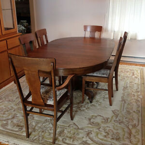 Gorgeous Antique Dining Suite, Buffet and China Cabinet