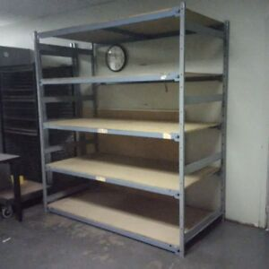 Wide span industrial shelving units - LIMITED QUANTITY