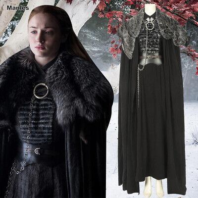 2019 Sansa Stark Cosplay Game of Thrones Season 8 Halloween Costume Fancy - Season Halloween Costumes