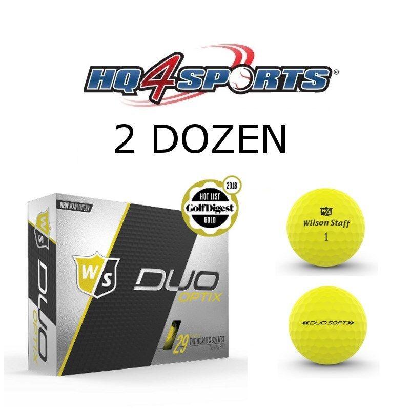 2018 Wilson Staff Duo Soft Optix Electric Glow Golf Balls -