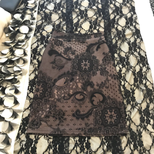 Black Pink Lace Skirt size 6 review pink label skirt suit