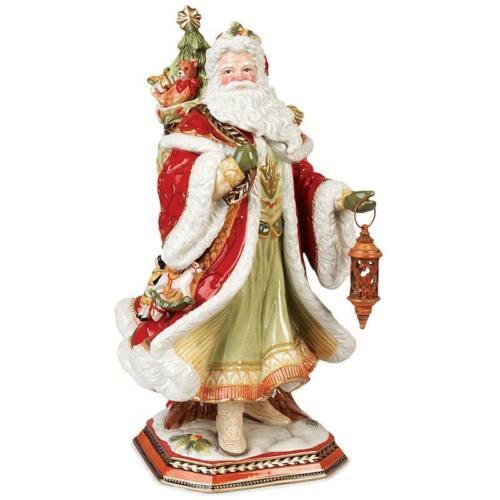 RARE Fitz and Floyd Damask Holiday Figurine LARGE