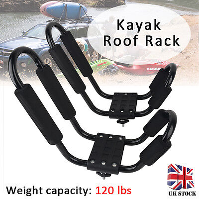 Universal Heavy Duty J Shape Bars Canoe Kayak Carrier Car Roof Rack With Straps