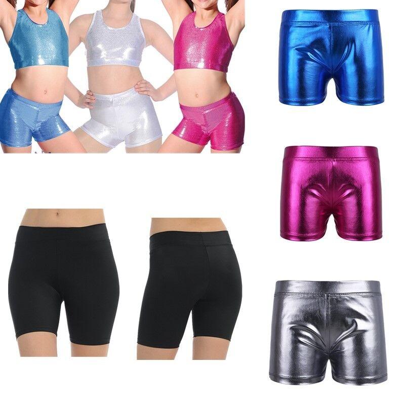 Girls Kids Dance Sports Shorts Activewear Hot Pants Leotard Gym Ballet Bottoms