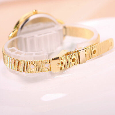 Women's Quartz Fashion Classic Stainless Steel Analog Wrist Watch-Bracelet