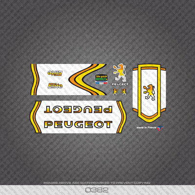 Decals 0635 Peugeot Premiere Bicycle Frame Stickers Transfers Green
