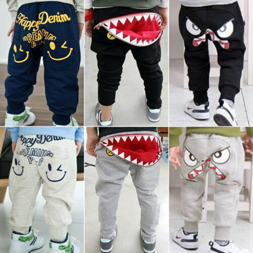 Baby Boys Girls Cotton Harem Long Pants Sweatpants Kids Trou