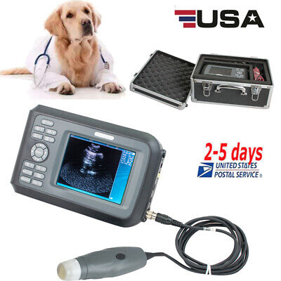 5.5 Handheld Veterinary Ultrasound Scanner For Animals With 3.5mhz Probe Usa