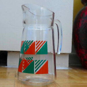 Vintage Glass Pitcher – Italy