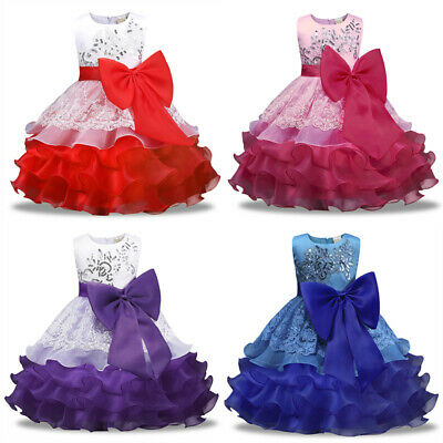 Kids Baby Flower Girl Bow Princess Dress for Girls Party Wedding Bridesmaid Gown](Princess Dresses For Children)