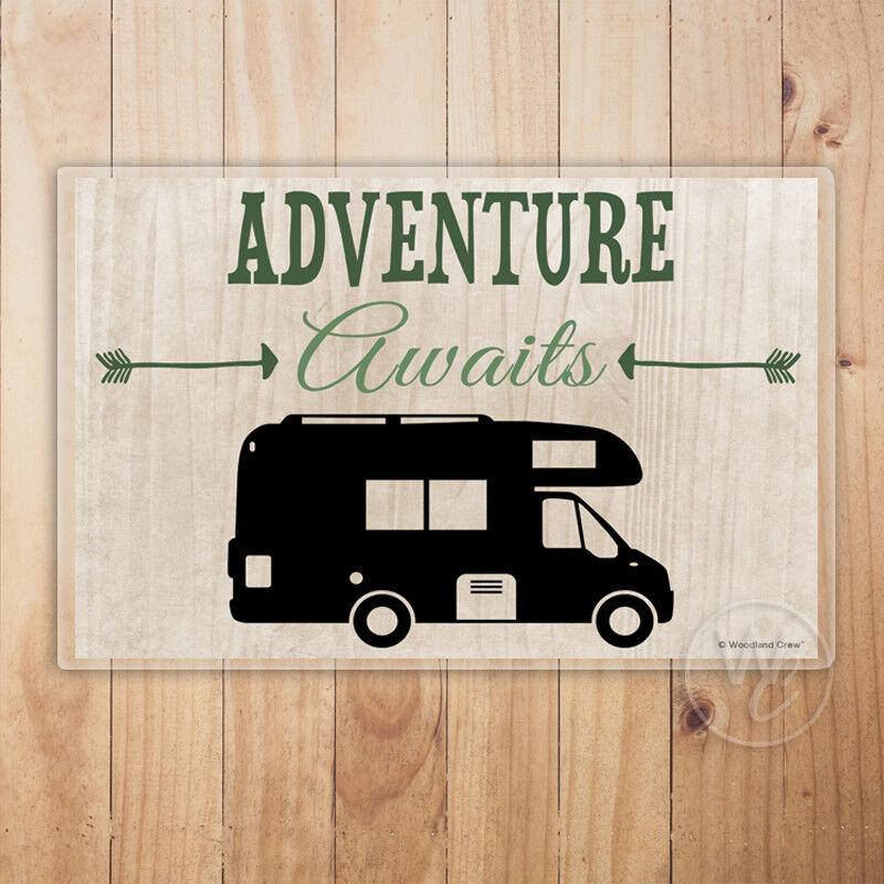 Motorhome Placemat, Adventure Awaits Laminated Placemat, Tab