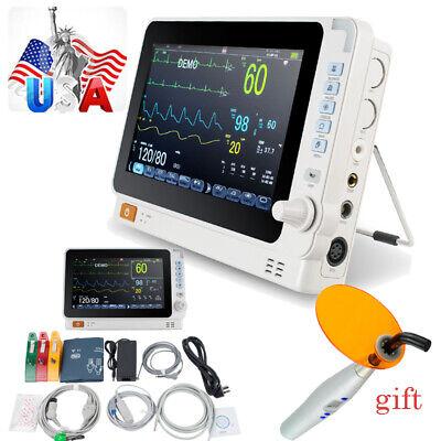 Portable Vital Signs Dental Patient Monitor Cardiac Multi-paras Alarm Battery