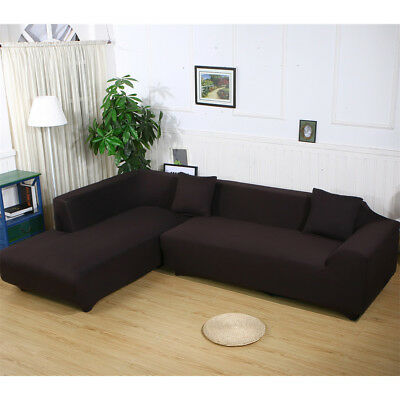 - Stretch Fabric Sofa Slipcover Elastic Sectional Furniture Cover Protector Couch