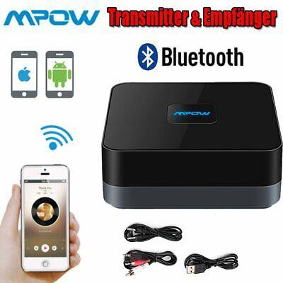 MPOW Wireless Bluetooth 4.1 Empfänger Stereo Audio Musik Receiver 3.5mm RCA