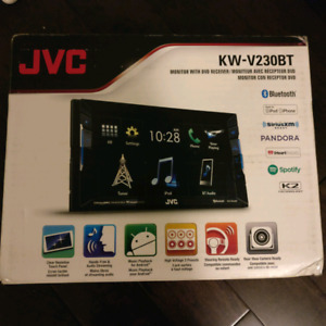 """BNIB JVC KW-V230BT 2 DIN DVD/CD Player 6.2"""" LCD Spotify Pandora"""