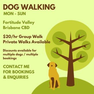Dog Walking - Brisbane CBD/Fortitude Valley
