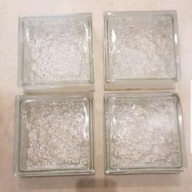 Wall Glass Blocks x 4 - Used