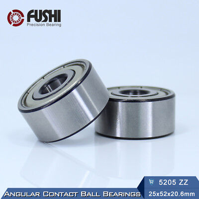 5205 Zz Bearing 25x52x20.6 Mm 1 Pc Axial Double Row Angular Contact Bearings