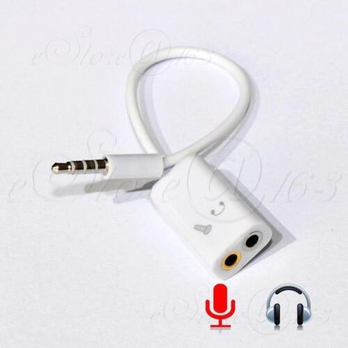 3.5mm Jack Combo Mic/Headphone Splitter Cable Adapter For iP