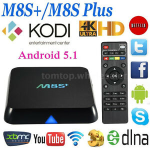 M8S+ KODI 1000M Ethernet  -  2GB RAM + 8GB ROM  BLACK