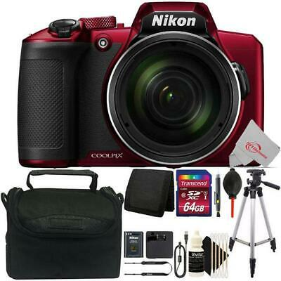 Nikon COOLPIX B600 Digital Camera (Red) + 64GB Accessory Kit