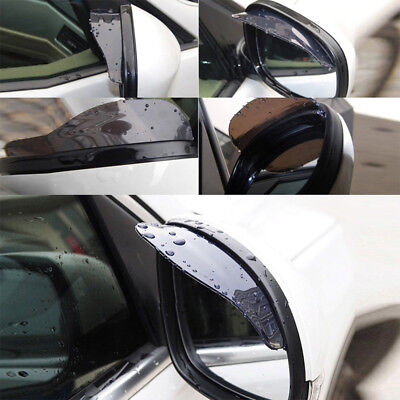 2 Pcs Black Car Accessories Auto rearview mirror The rain stop driving on rainy