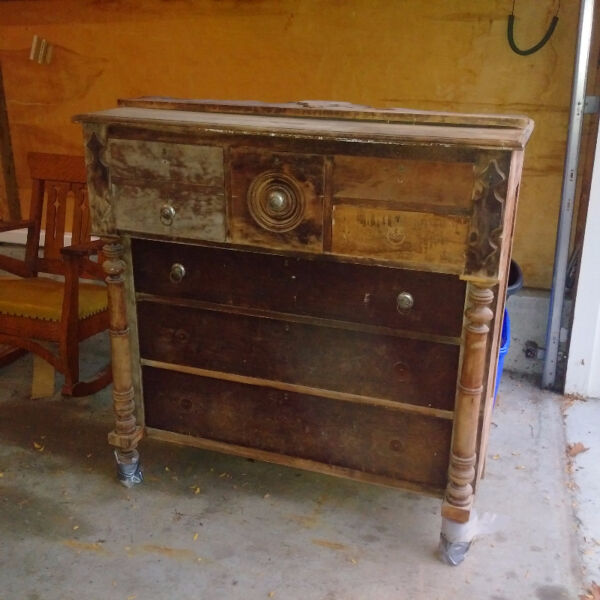 Antique Coffee Table For Sale Kijiji: FREE - Antique Bonnet Chest And Rocking Chair