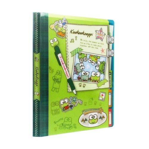 Sanrio Keroppi Frog A4 Size Book 20 Pockets Folder File NEW