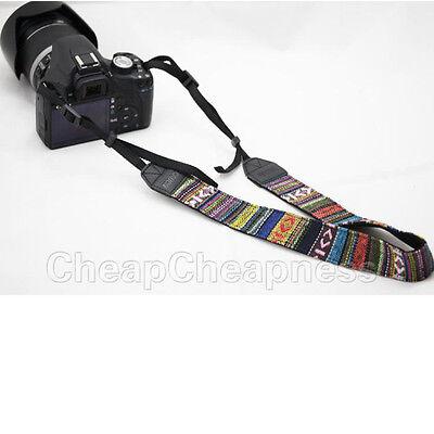 Vintage Camera Shoulder Neck Belt Strap For Slr Dslr Canon Nikon Sony Panason KW