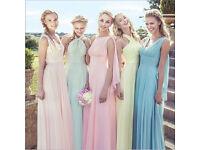 Bridesmaid dress - convertible - size12 - mint green- brand new