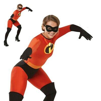 Mrs Unglaubliche Damen Kostüm Disney Superheld der Incredibles Erwachsene - Mrs Incredible Kostüm