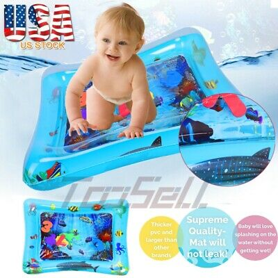 Inflatable Kids Floor Activity Baby Water Play Mat Tummy Time Gym Crawling Funny