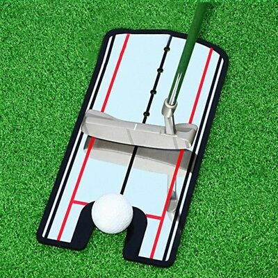 Practise Golf putting mirror Alignment Training Aid swing trainer eye line Sport