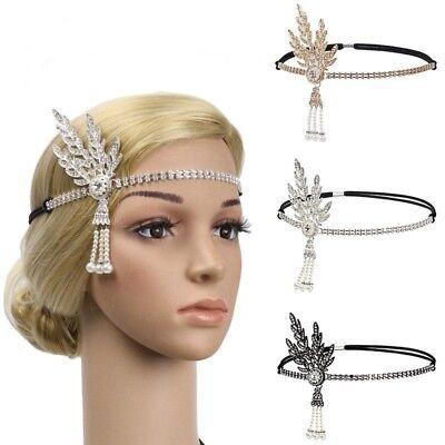 Gatsby Crystal Pearl Kopfschmuck Party Braut Stirnband Mode (1920er Jahre Schmuck)