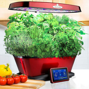 Aerogarden Bounty Elite Wi-Fi - Red Stainless Steel for 9 Plants