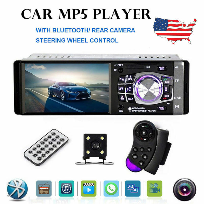 "4.1"" HD Single 1DIN Car Stereo Video MP5 Player BT FM Radio"