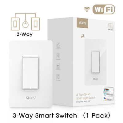 3-Way WiFi Smart Light Switch Double Control Remote Control Works with Alexa