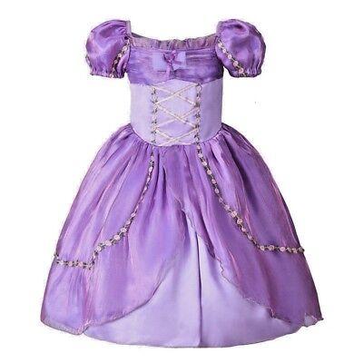 2018 Girls Rapunzel Formal Wedding Princess Party Birthday Dress Costume K30](Rapunzel Wedding Dress Costume)